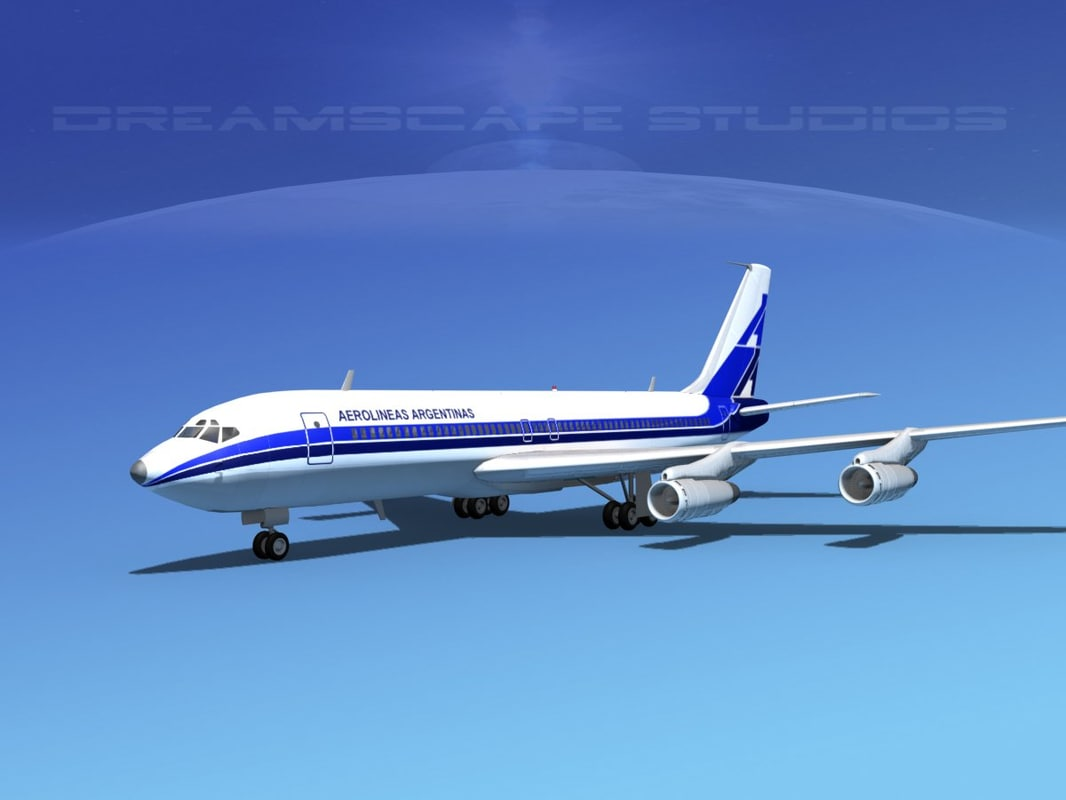 707-320 airlines boeing 707 3d 3ds