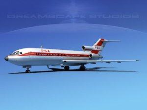 airline boeing 727 727-100 3d lwo