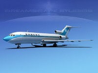 airline boeing 727 727-100 3d model