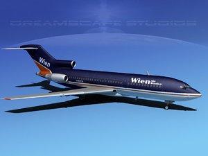 3d airline boeing 727 727-100 model