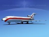 airline boeing 727 727-100 obj