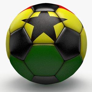 3d model soccerball pro ball black