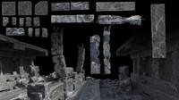 3d ruin elements model