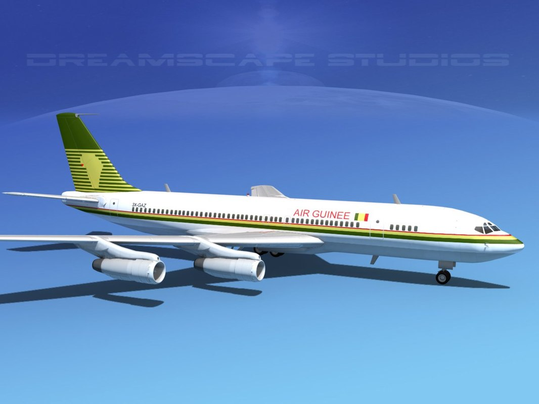 3d dwg 707-320 airlines boeing 707