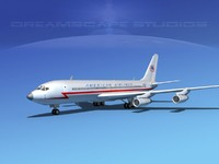707-320 airlines boeing 707 3d max