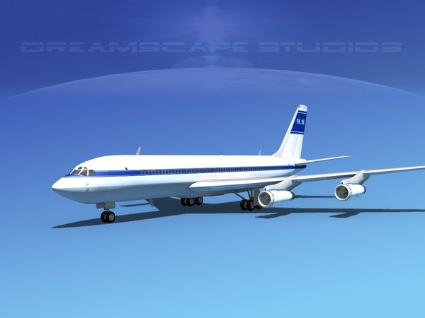 3d 707-320 airlines boeing 707