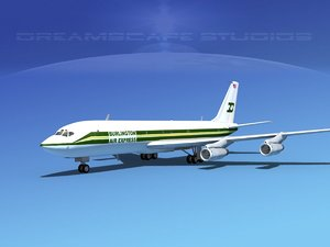 707-320 airlines boeing 707 3d dwg