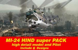 3ds max mi24 hind
