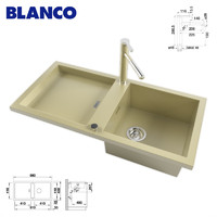 BLANCO ADON XL 6 S and mixer BLANCO LINEE-S