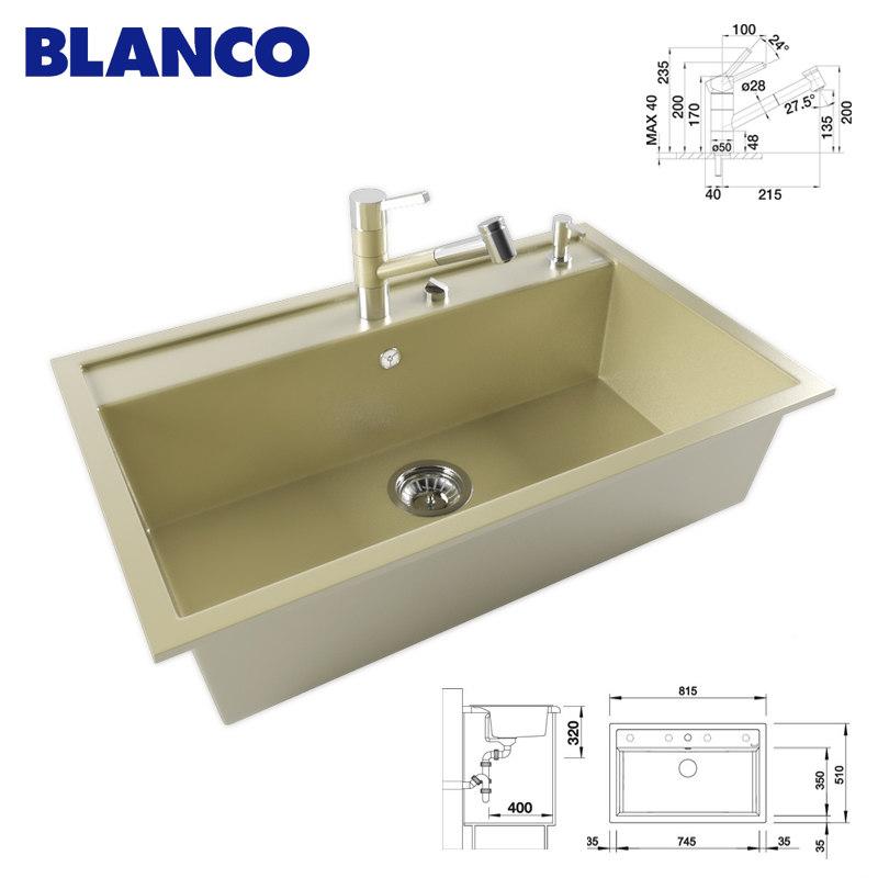 max kitchen sink blanco
