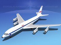 3d 707-320 airlines boeing 707 model