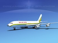 3d model 707-320 airlines boeing 707