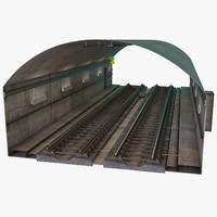 3d model subway tunnel segment
