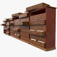 Simple Wooden office Document Cabinet archive files record repository ID paper identity (2)(3)