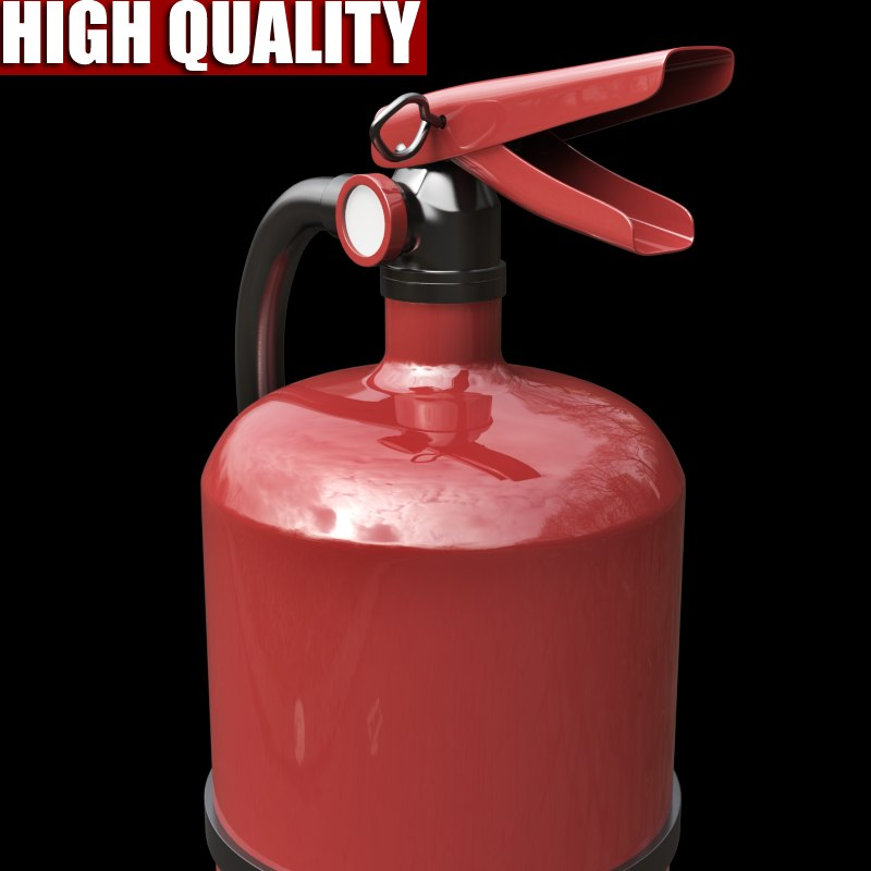 3ds realistic extinguisher