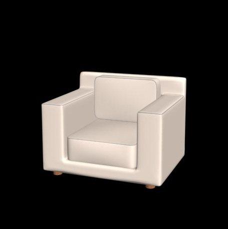 armchair materials 3d model