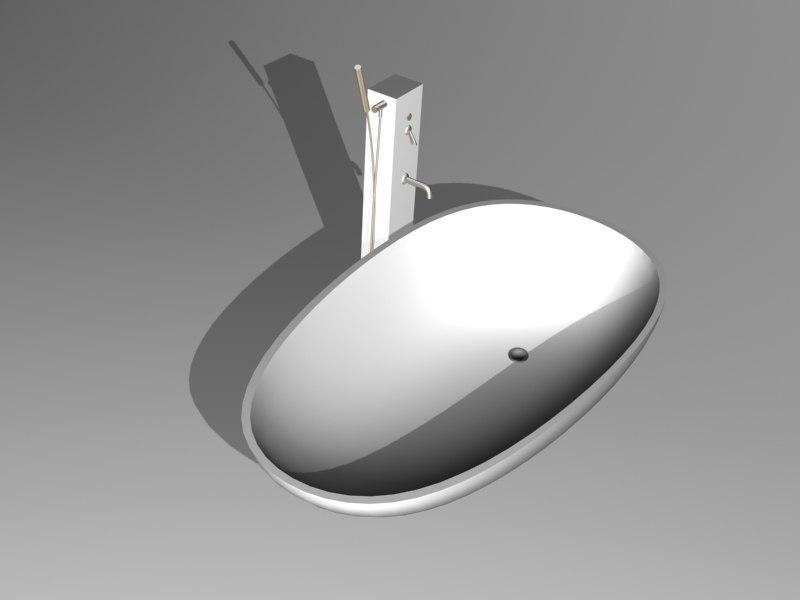 3d spoon bathtub