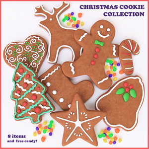 christmas cookie ginger 3d model