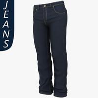 3d mans jeans model