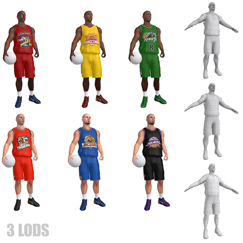 pack basketball player lod max