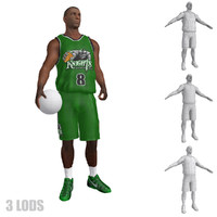 3d rigged basketball player 3