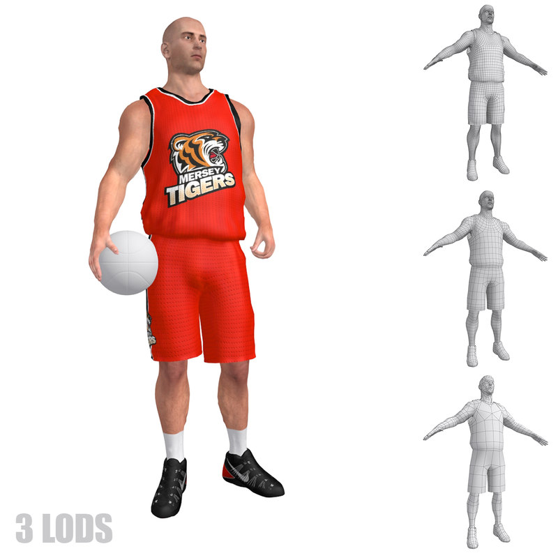 max rigged basketball player lod