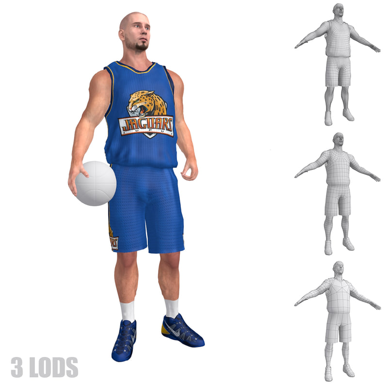 rigged basketball player lod max