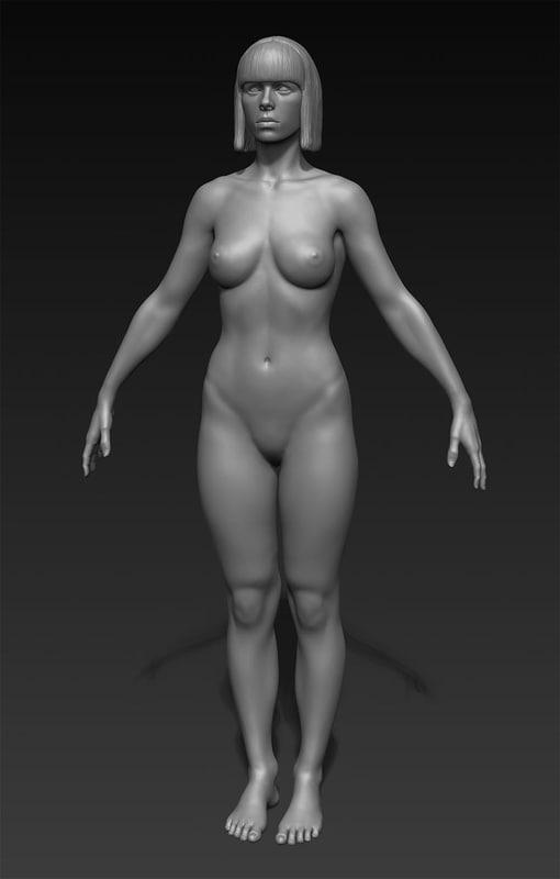 3d model zbrush girl