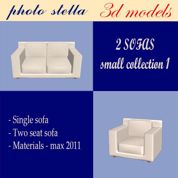 3dsmax sofa armchair
