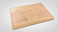 3d model obsessive cutting board