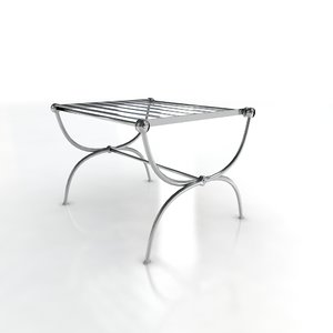 chrome table paper stand 3d 3ds