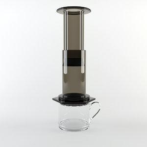 3d aeropress coffee maker model