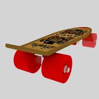 3d model skating board 02