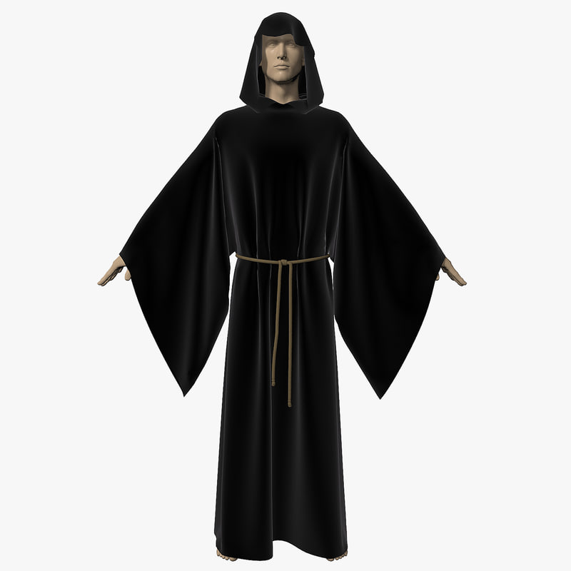 3ds robe modeled