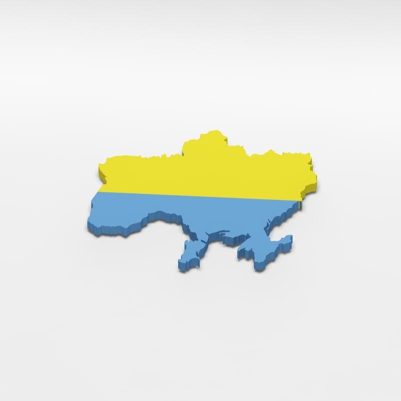 old ukraine 3d model