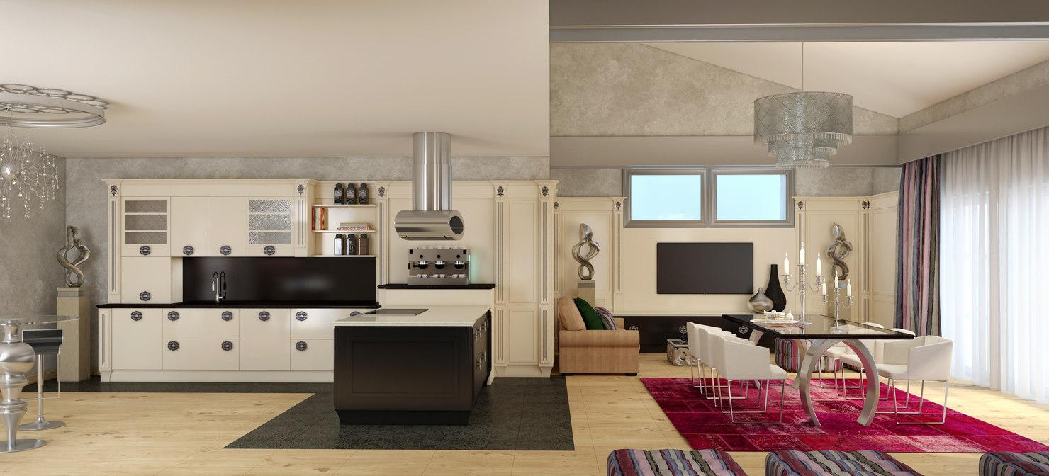 3d max scene modern interior