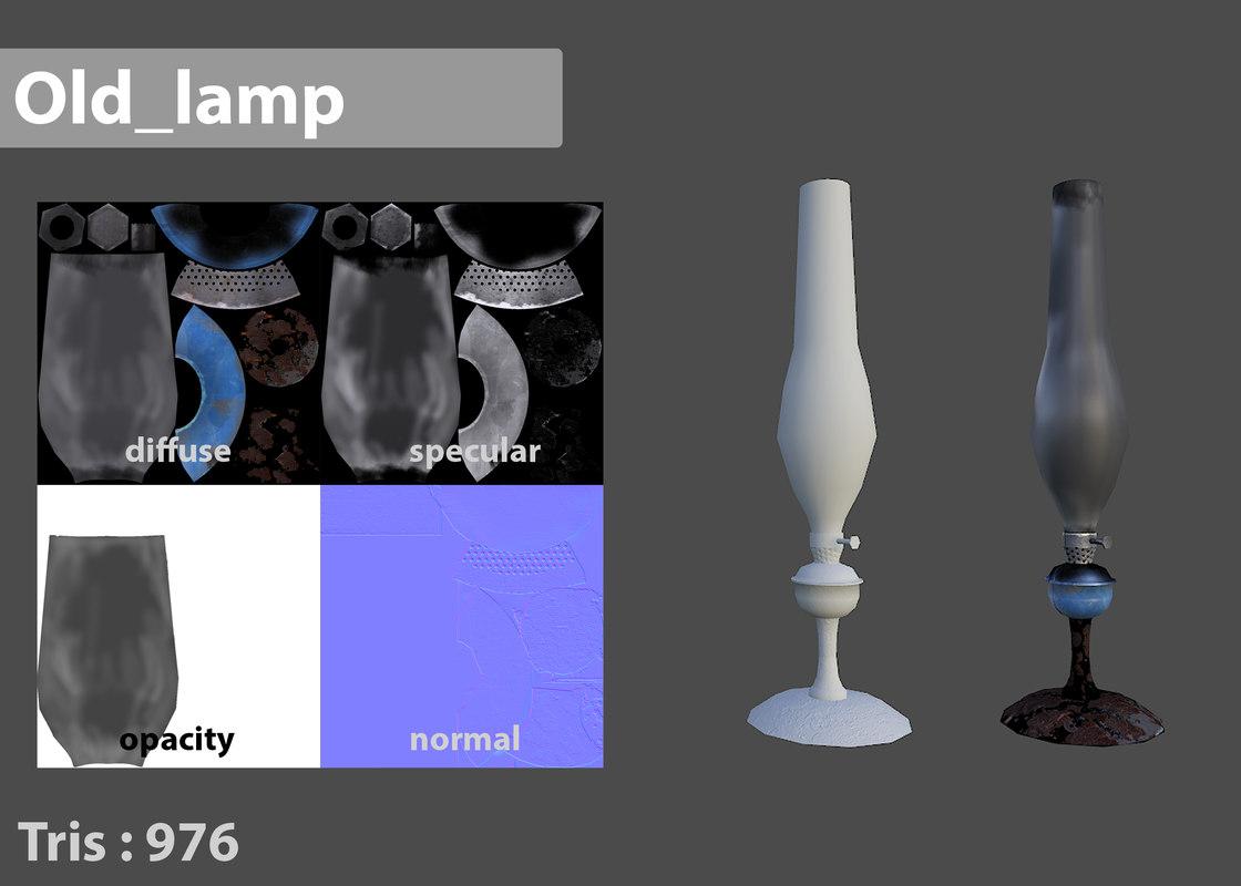 antique decorative lamp 3d max