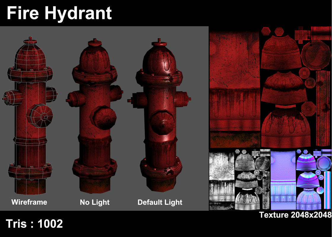 hydrant 3d max