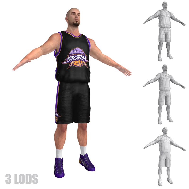 basketball player 6 3d fbx