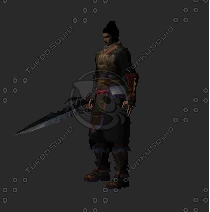 chinese male character 3d model