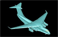 China Y-20 Transport Aircraft Solid Assembly Model