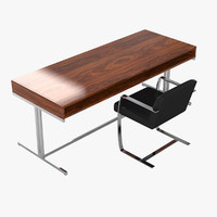 office table chair set 3d 3ds