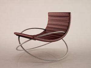 3d chair modern rocking model