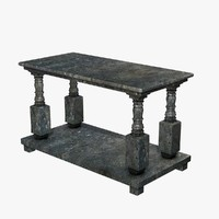 3dsmax stone table