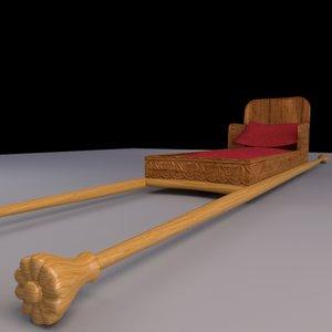 3d ancient palanquin model
