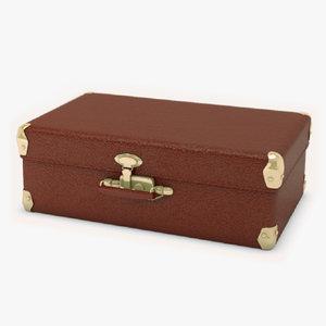 3d retro suitcase