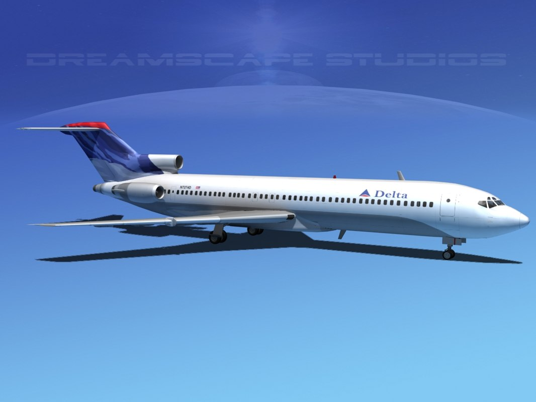3d dxf airline boeing 727 727-200