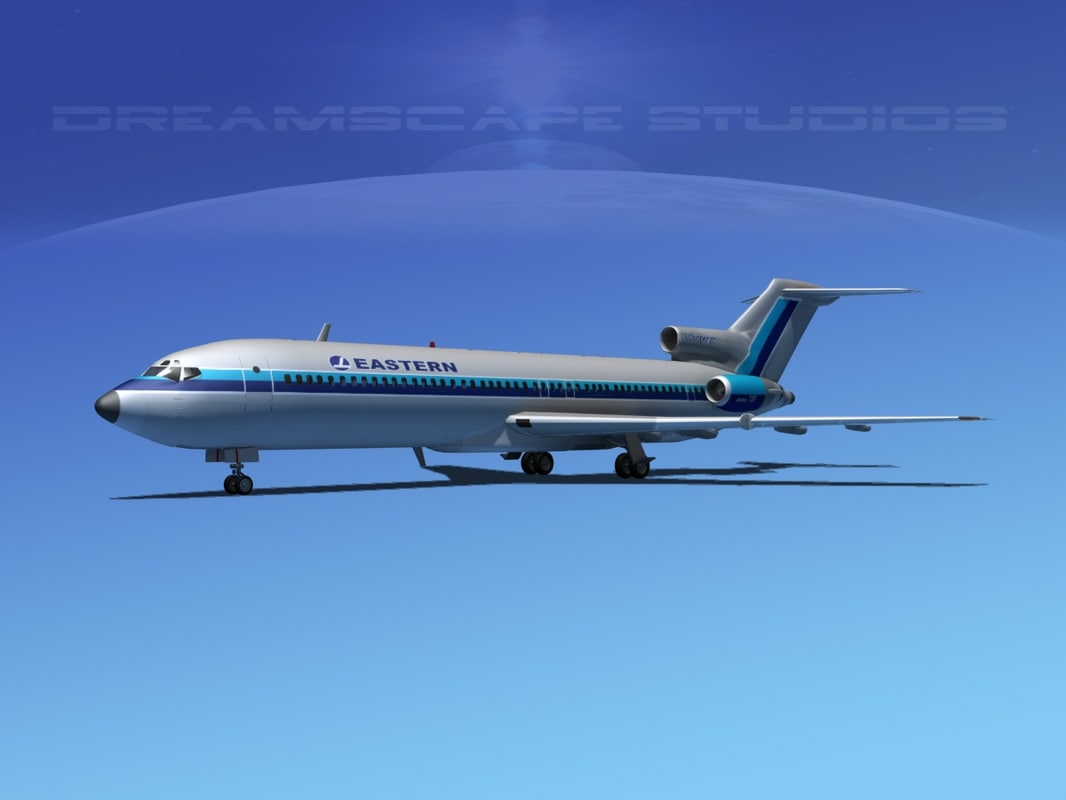3d model of airline boeing 727 727-200