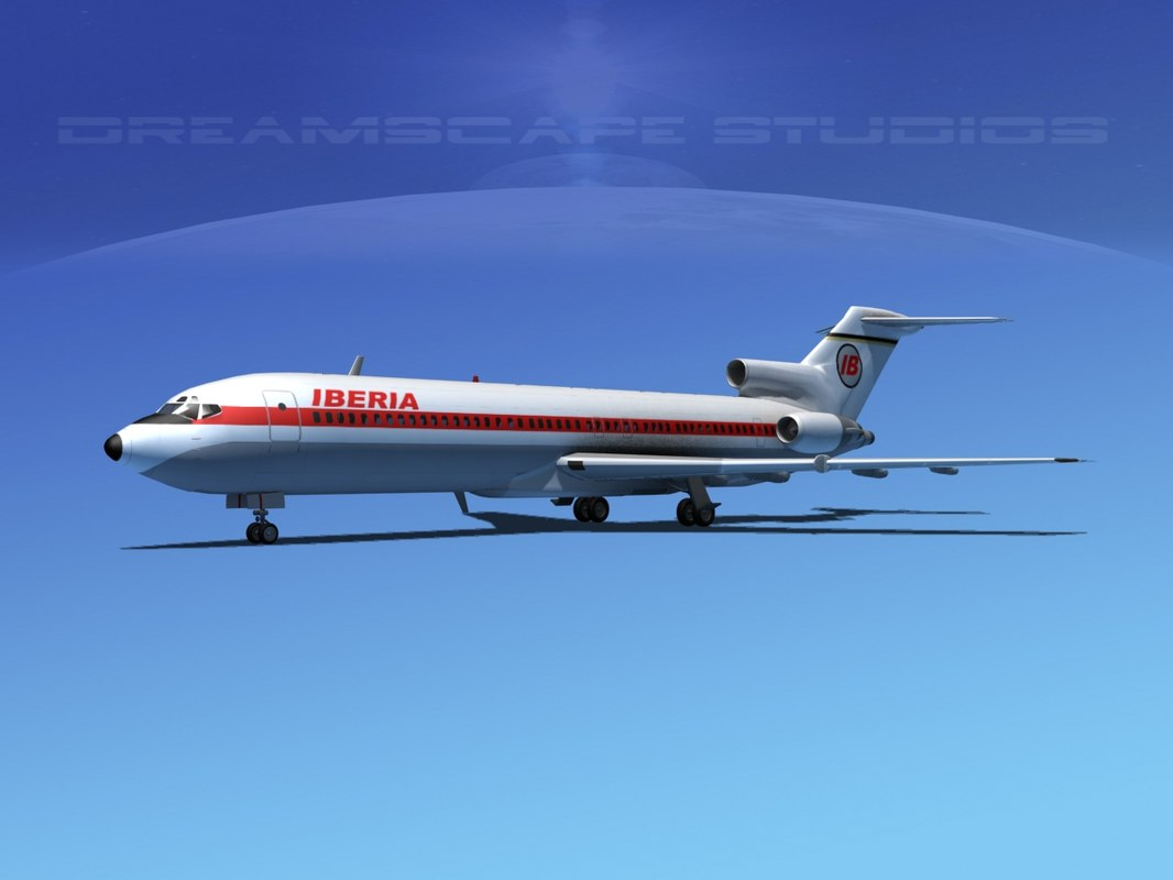 airline boeing 727 727-200 3d dxf