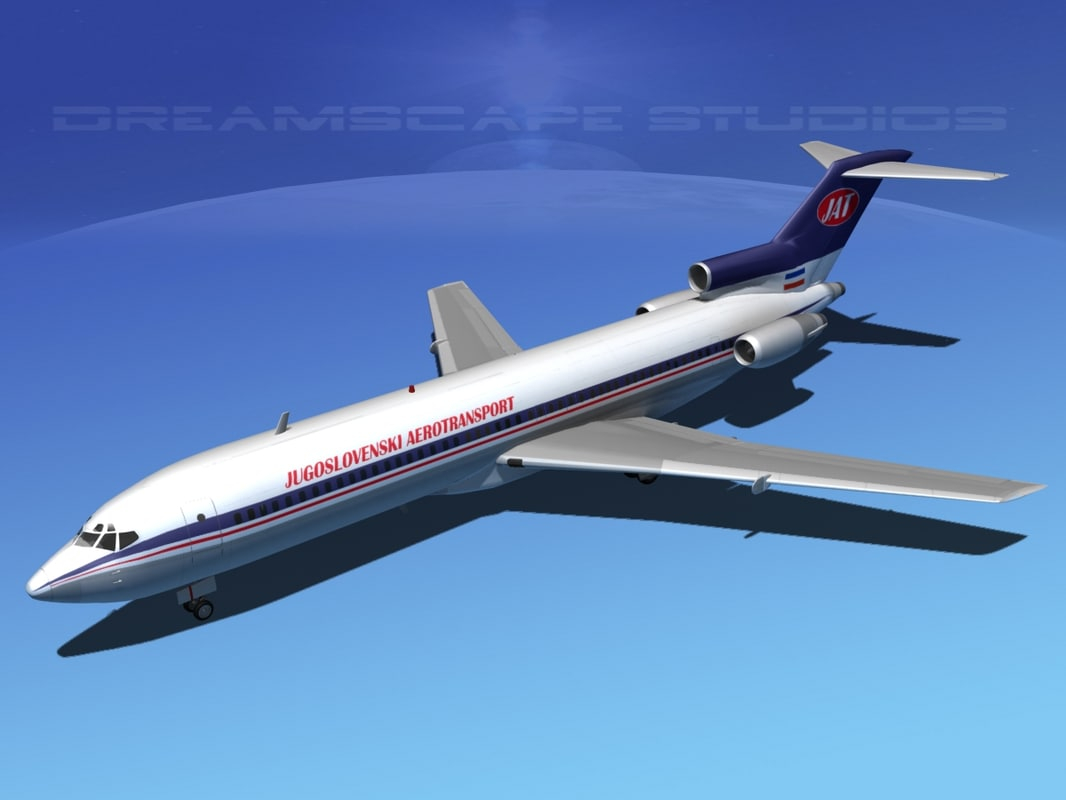 airline boeing 727 727-200 3d lwo